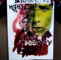 Enfermos de hipocresia. Un proyecto de Ilustración de Akme04 Corazón de Uranio - 22-07-2009