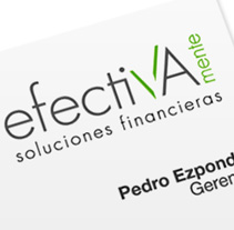 Identidad | Efectivamente . Un proyecto de Diseño de Eloy Ortega Gatón - 20-10-2009