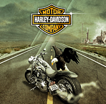 Harley Davidson. Un proyecto de Diseño e Ilustración de José Antonio  García Montes - Sábado, 24 de octubre de 2009 00:32:46 +0200