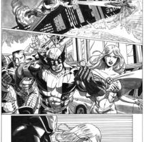 Xmen pagina 4. Un proyecto de Ilustración de Tomás Morón Aranda - Jueves, 12 de noviembre de 2009 15:53:50 +0100