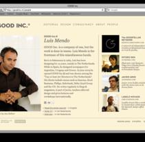 Good Inc.. Un proyecto de Desarrollo de software de Javier Arce - Lunes, 23 de noviembre de 2009 08:07:22 +0100