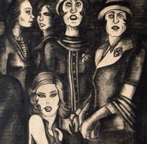 Pictórica en blanco y negro.. Um projeto de Ilustração de Pachi Santiago  - 25-01-2010