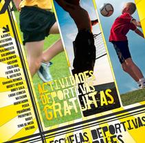 Cartel Escuelas deportivas. A Design, and Advertising project by santosdelacalle@gmail.com         - 08.02.2010