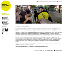 La noche de los libros. A Design, and Software Development project by seven  - 12-02-2010