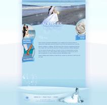 Diseño de Sitio Web Aquarius Wedding Videos. A Design, and UI / UX project by Leydi Alejandra Marí Rivero         - 14.07.2010