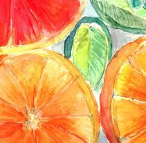 Frutas - Acuarela. Um projeto de Ilustração de Misaf         - 18.07.2010