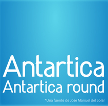 Antartica (font). A Design project by jose manuel del solar         - 23.07.2010