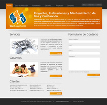 Tresgas Norte Web. A Design project by Diego Moreno - 14-09-2010
