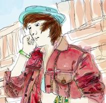 Wall Boy. Um projeto de Ilustração de Misaf         - 23.09.2010