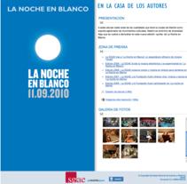 Noche en Blanco. Un proyecto de Diseño de Javier Martín Balsa - 27-09-2010