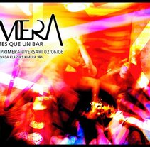 Cartell primer aniversari bar Kimera. A Design, Illustration, and Photograph project by Marc Perelló         - 18.11.2010