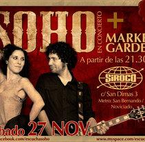 Soho - Diseño de flyers. Un proyecto de Diseño e Ilustración de Blanca  - Miércoles, 24 de noviembre de 2010 10:37:40 +0100