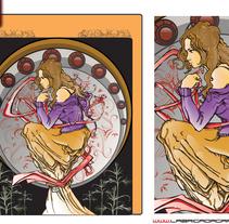 Cartelería de La Flama. A Illustration, and Advertising project by Rey Mono Grafico - 26-01-2011