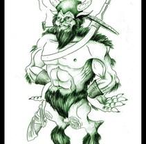 Creación de personaje (grafito). A Design&Illustration project by Jesús Prieto Revuelta         - 18.05.2011