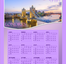 Calendario Londres. A Design, Illustration, Advertising, and Photograph project by Damian Carlos Gerez         - 07.06.2011