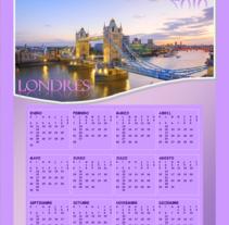 Calendario Londres. Um projeto de Design, Ilustração, Publicidade e Fotografia de Damian Carlos Gerez         - 07.06.2011