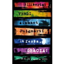 Gràcia Urbana · Concurso Cartel Festa de Gràcia. Un proyecto de Diseño, Ilustración y Fotografía de Gabriela Petrikovich - 14-06-2011