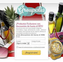 Groupalia Landing retail. A Design project by Eztizen Angulo          - 04.07.2011