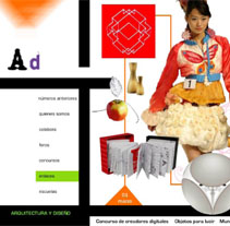 Proyecto de revista y web AD. Um projeto de Design de Inma Lázaro         - 06.07.2011
