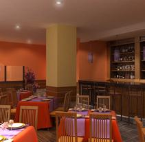 Restaurante Bistrot. Um projeto de Design e 3D de Vicente Díez Cillero         - 13.07.2011
