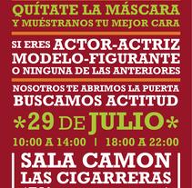 Cartel Macrocasting 2 Shakes Productions. Un proyecto de Diseño, Publicidad, Cine, vídeo y televisión de Dámaris Muñoz Piqueras - 25-07-2011