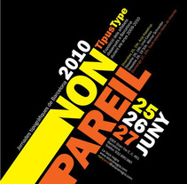 Cartel Nonpareil - Jornadas Tipográficas. A  project by David Ortega         - 25.07.2011