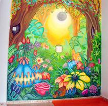 El bosque de Ana LOve-on. Un proyecto de Diseño, Ilustración e Instalaciones de Penelope Moreno         - 31.10.2011