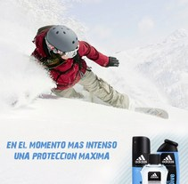 Campaña publicitaria para los productos de higiene personal de Adidas. A Design, and Advertising project by Claudia Tripputi - 01-11-2011