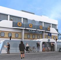 Infografía 3D Fachada Restaurante. Un proyecto de Diseño, Instalaciones y 3D de Luis Dedalo - 06-11-2011