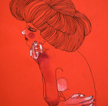 """El pelo"". A Illustration project by Sara Barajas Negueruela - 12.05.2011"