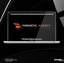 Logotipo: Phrenetic Agency. A Design project by KikeNS         - 05.01.2012