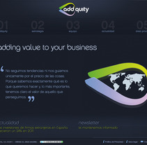 Web Addquity. A Design, and Software Development project by seven  - 17-04-2012