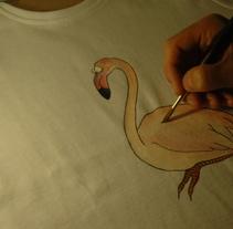 Dibujo sobre textil. A  project by Lara Sànchez Guirado         - 17.05.2012