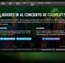 Landing Heineken Coldplay. Un proyecto de Desarrollo de software de Sergio García Sanjuán         - 17.05.2012