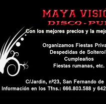 Tarjetas presentación Maya Visión. A Design, Illustration, Advertising, Motion Graphics, and Photograph project by Doina Catruna         - 26.05.2012