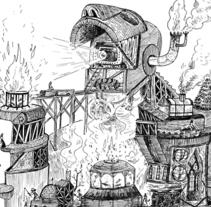 Menschlichen Bergwerk. A Illustration project by Andrés Lozano         - 13.07.2012
