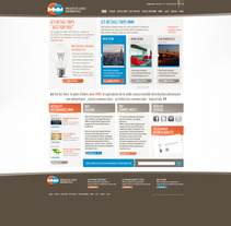 Direction Artistique de la page web de MMM. Um projeto de Design de Laure Chassaing - 18-06-2012
