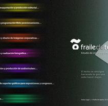 Homes de la web www.frailedetejada.com. Un proyecto de Diseño, Ilustración, Publicidad, Instalaciones, Desarrollo de software, Fotografía, Cine, vídeo, televisión e Informática de Kiko  Fraile - 09-09-2012