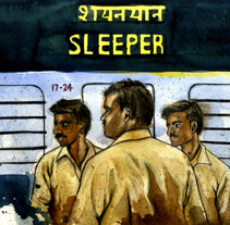 Sleepers. A Illustration project by Natalia Vera          - 29.06.2012