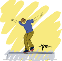 Skateboard. A Illustration project by Pau Avila Otero         - 14.07.2012