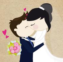 Ilustración boda personalizada. Un proyecto de  de Silvia Iglesias - 25-07-2012