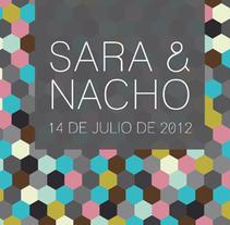 Invitación de boda Sara y Nacho. Un proyecto de Diseño de Rosa López - 23-08-2012