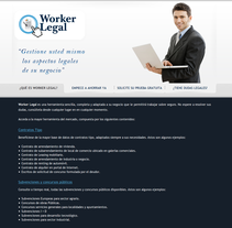 Worker Legal. A Design, Advertising, and Software Development project by Javier Fernández Molina - 01-09-2012
