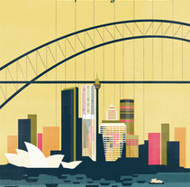 Sydney map cover. A Illustration project by Bea Crespo         - 05.09.2012
