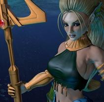 Sirena, personaje 3D. A  project by Antonio Jiménez Rodríguez         - 07.09.2012