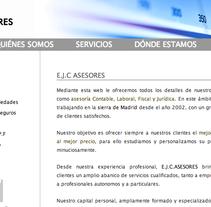 Web, EJC Asesores. Um projeto de Desenvolvimento de software de Marta Casado García - 29-12-2012