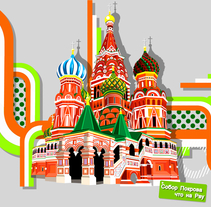 Saint Basil's Cathedral. A Design&Illustration project by Samuel Ochoa         - 01.02.2013
