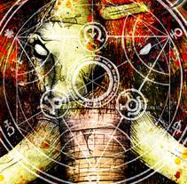 MUMAKIL + AFGRUND + TROCOTOMBIX + EL HAMBRE | poster. Un proyecto de Diseño, Ilustración, Publicidad y Fotografía de alejandro escrich - 04-03-2013
