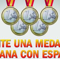 Cartel - promoción olimpiadas. Un proyecto de Diseño y Publicidad de Haru Maruyama Carrasco         - 18.03.2013
