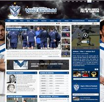 Sitio Web Oficial Vélez Sarsfield. A Design, Illustration, Advertising, Software Development, Photograph, UI / UX&IT project by Alexander Lima         - 21.03.2013